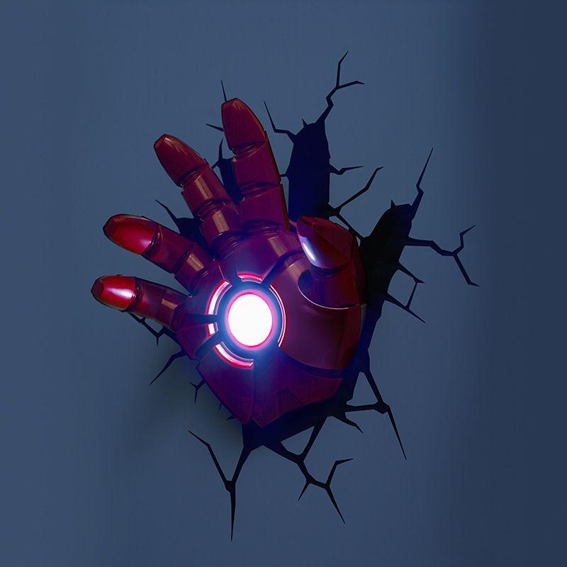 Simple Fashion Led 3d Creative Iron Man S Hand Wall Light Iron Man Hand Art Deco Wall Lights Avengers Wall Lights
