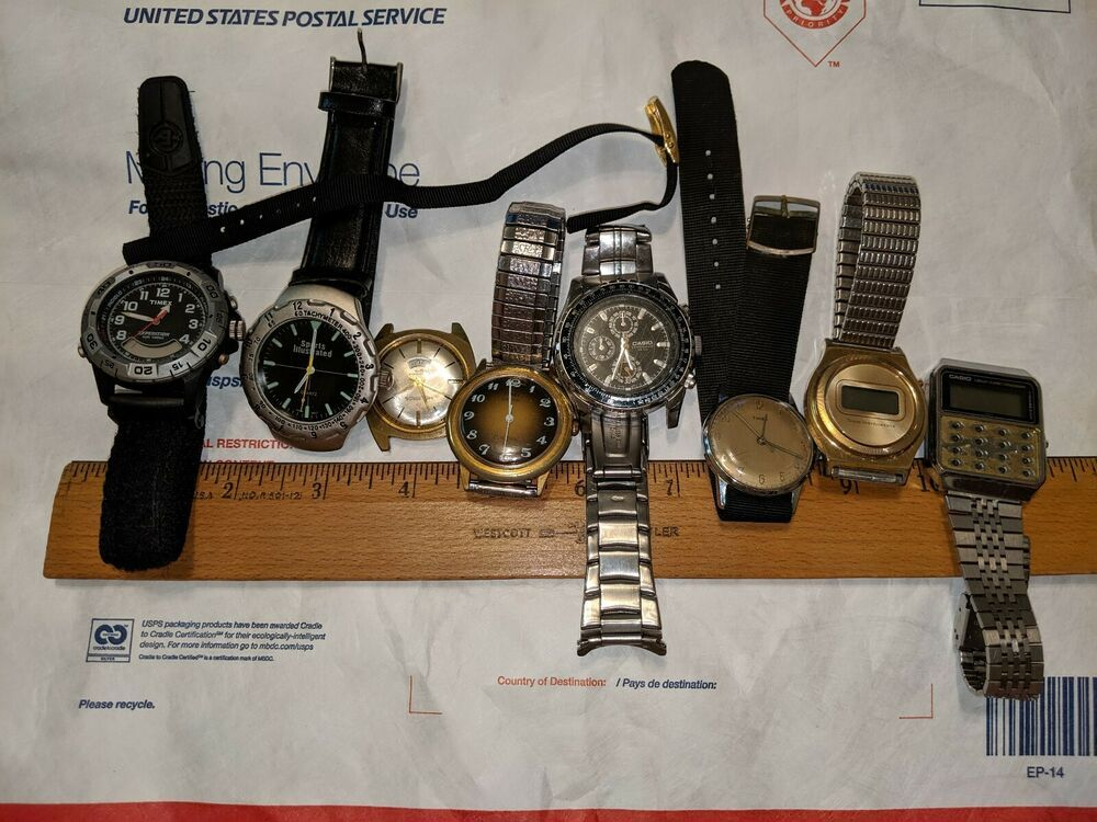 Vintage 8 Watch Lot Sports Illustrated Helbros West Germany Texas Instruments Sports Illustrated Vintage Watches Orvin