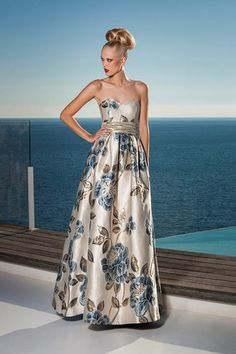 6acb2b9417bfb Vestido de fiesta largo estampado 1160198 de Sonia Peña 2016