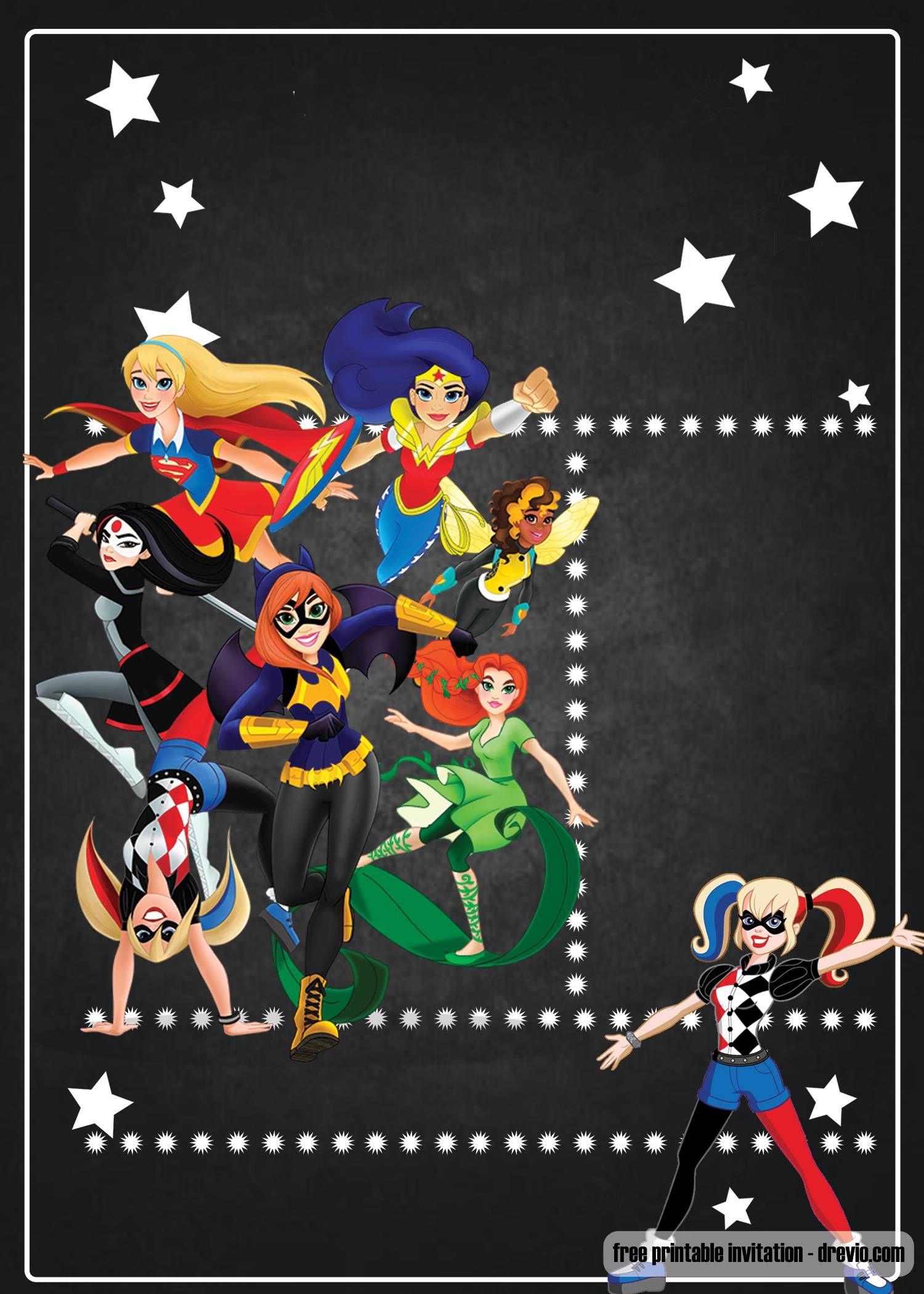 free printable dc superhero girls