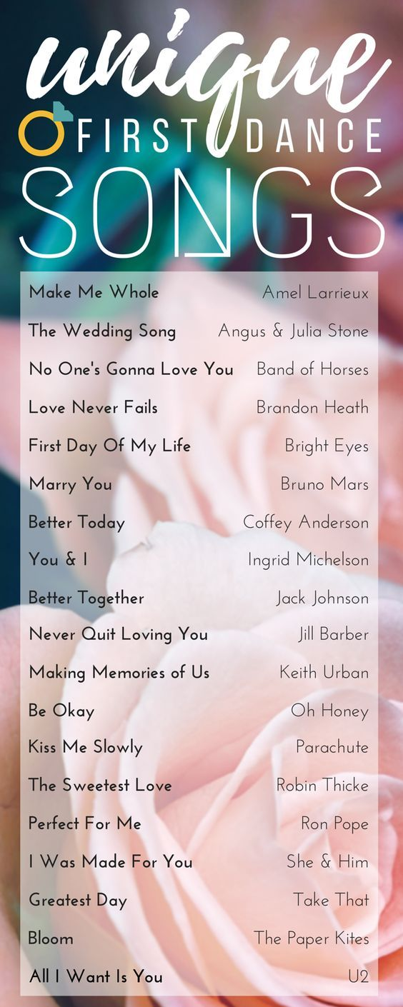 unique songs for the first dance mayihavethisdance parkcitybridal