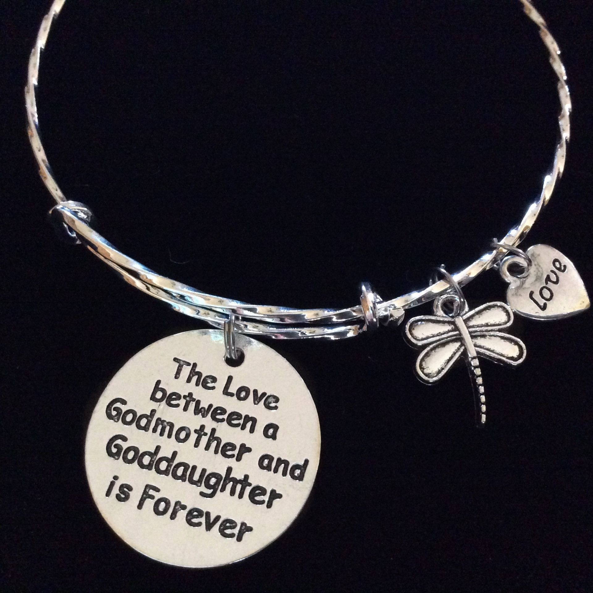 Godmother quotes funny quotesgram - Silver Stamped Word Quote Meaningful Charm Bracelet For Your God Child Or God Mother