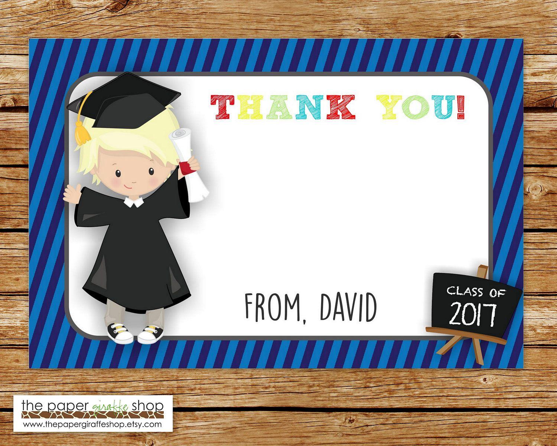 Kindergarten Graduation Thank You Card