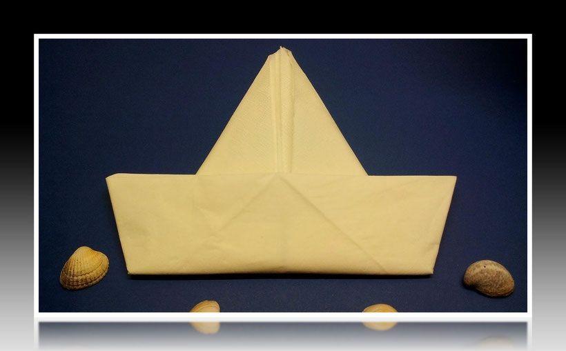 Servietten Falten Segelschiff Segelboot Schiff Boot Basteln