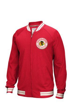 the best attitude a6ee9 bf1b0 Reebok Chicago Blackhawks Mens Red CCM FZ Jacket Zip Fashion ...
