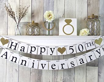 50th anniversary banner happy anniversary banner anniversary party