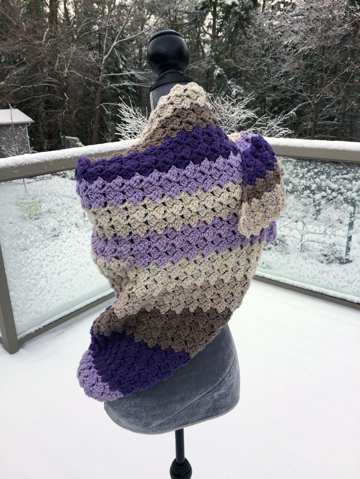 Crochet Warm C2C Shawl + Tutorial | Chal