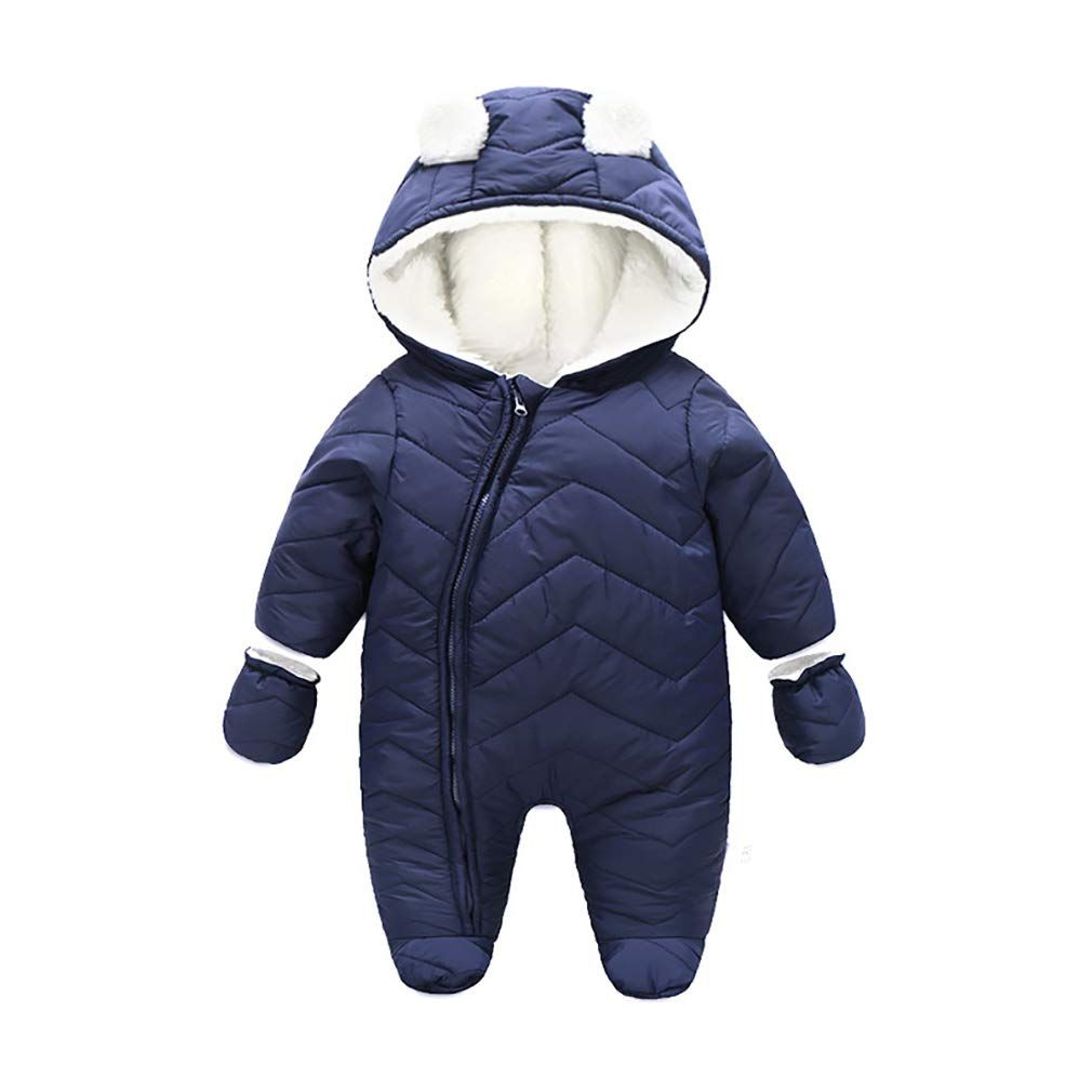 78c162aa1 Baby Boys Long Sleeve Toggle Button Snowsuit Set