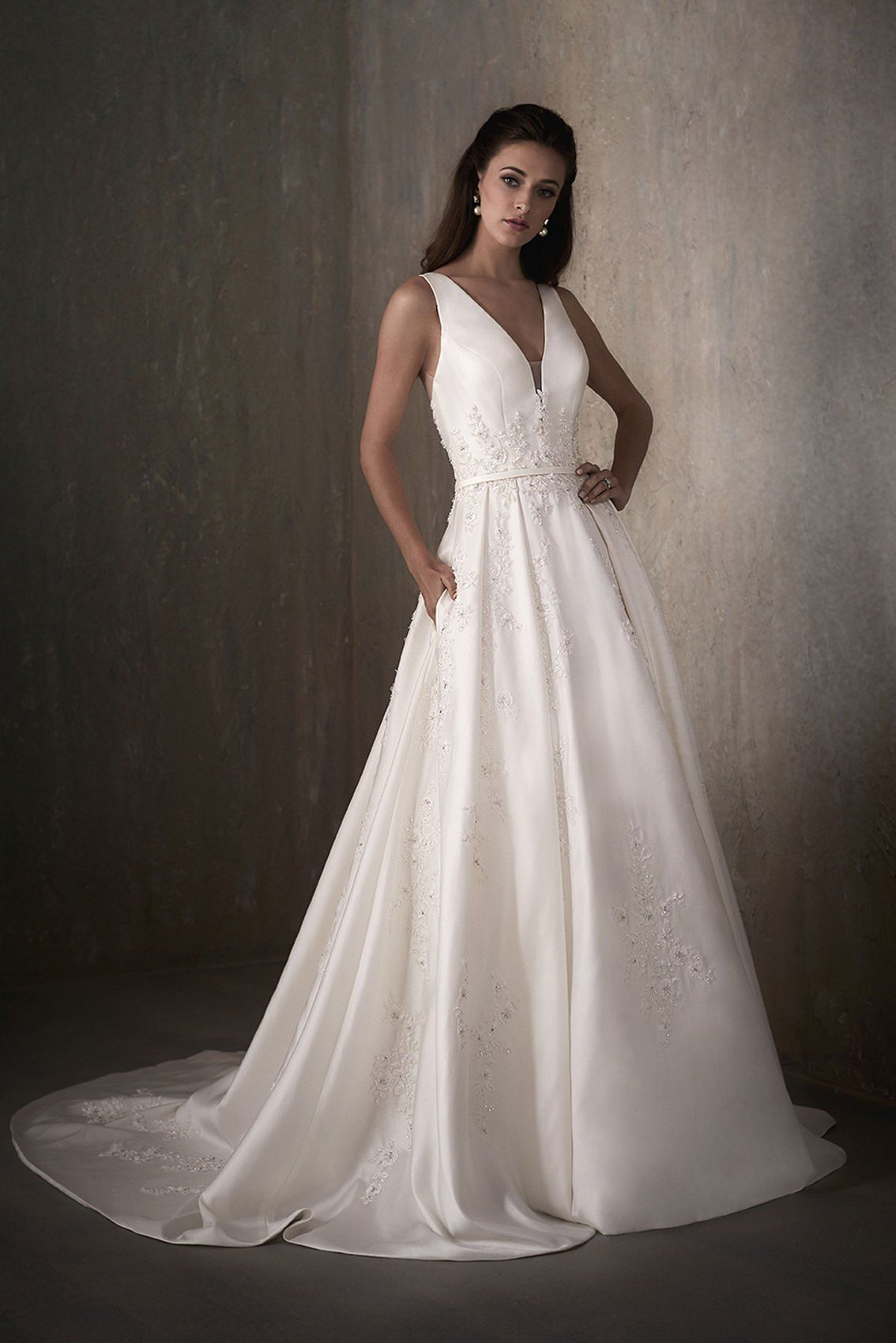 Victoria Adrianna Papell Tailored wedding dress
