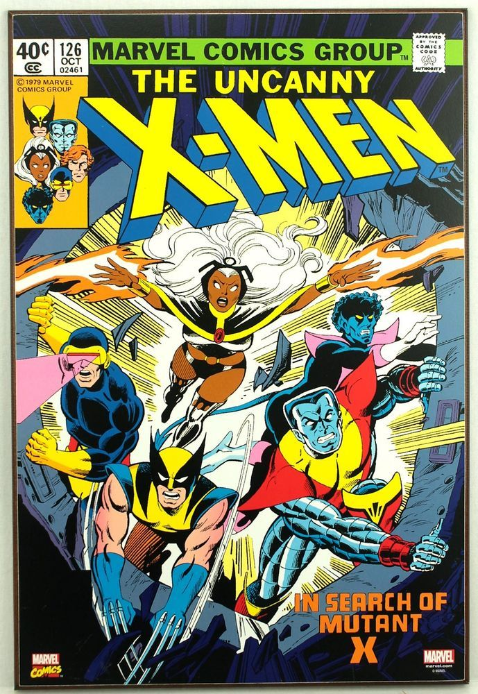 Marvel UNCANNY X-MEN #126 Retro Wood Comic Cover Plaque