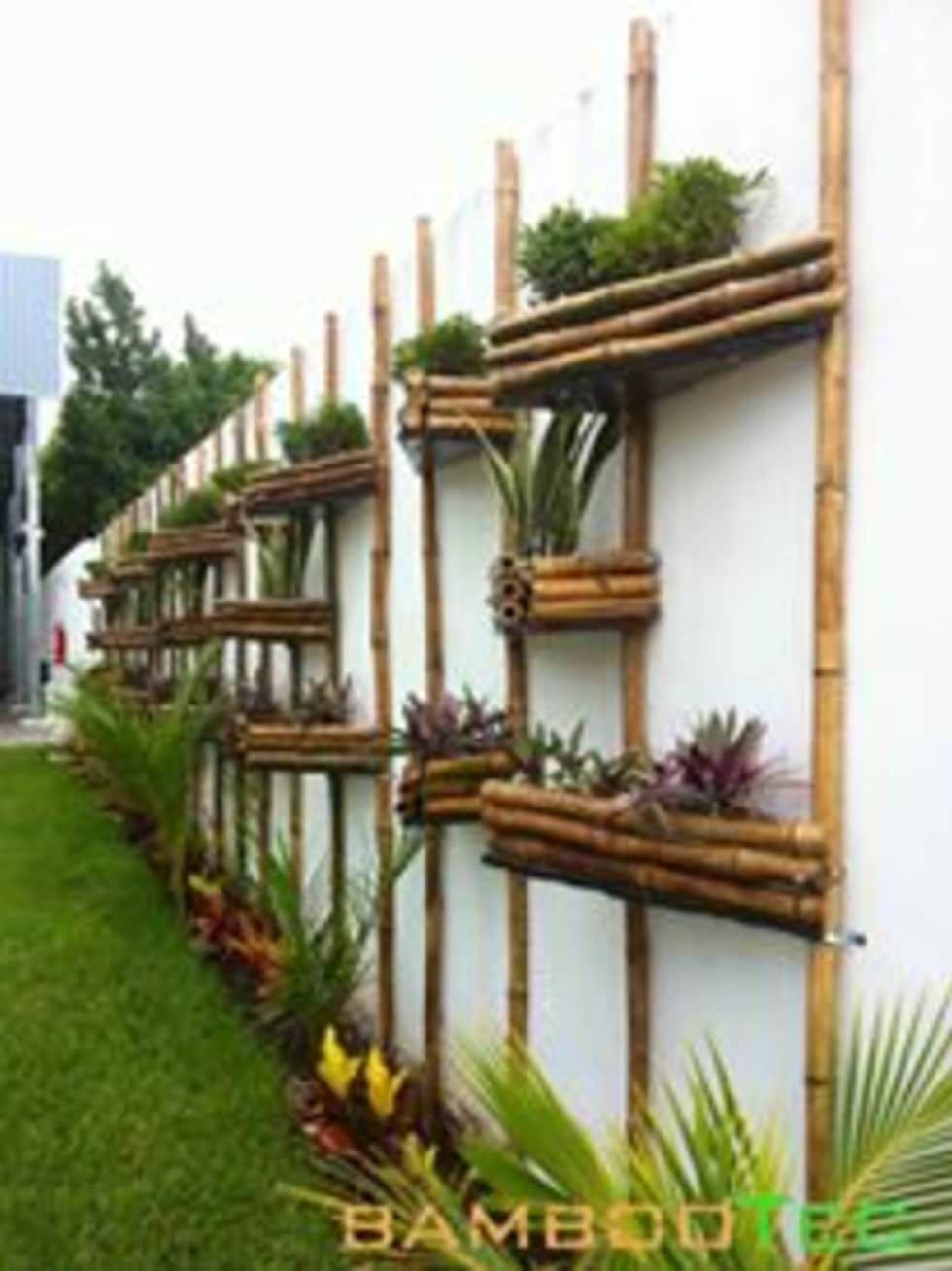 Bambootec jardines de estilo por bambootec jardiner a for Jardineria exterior con guijarros