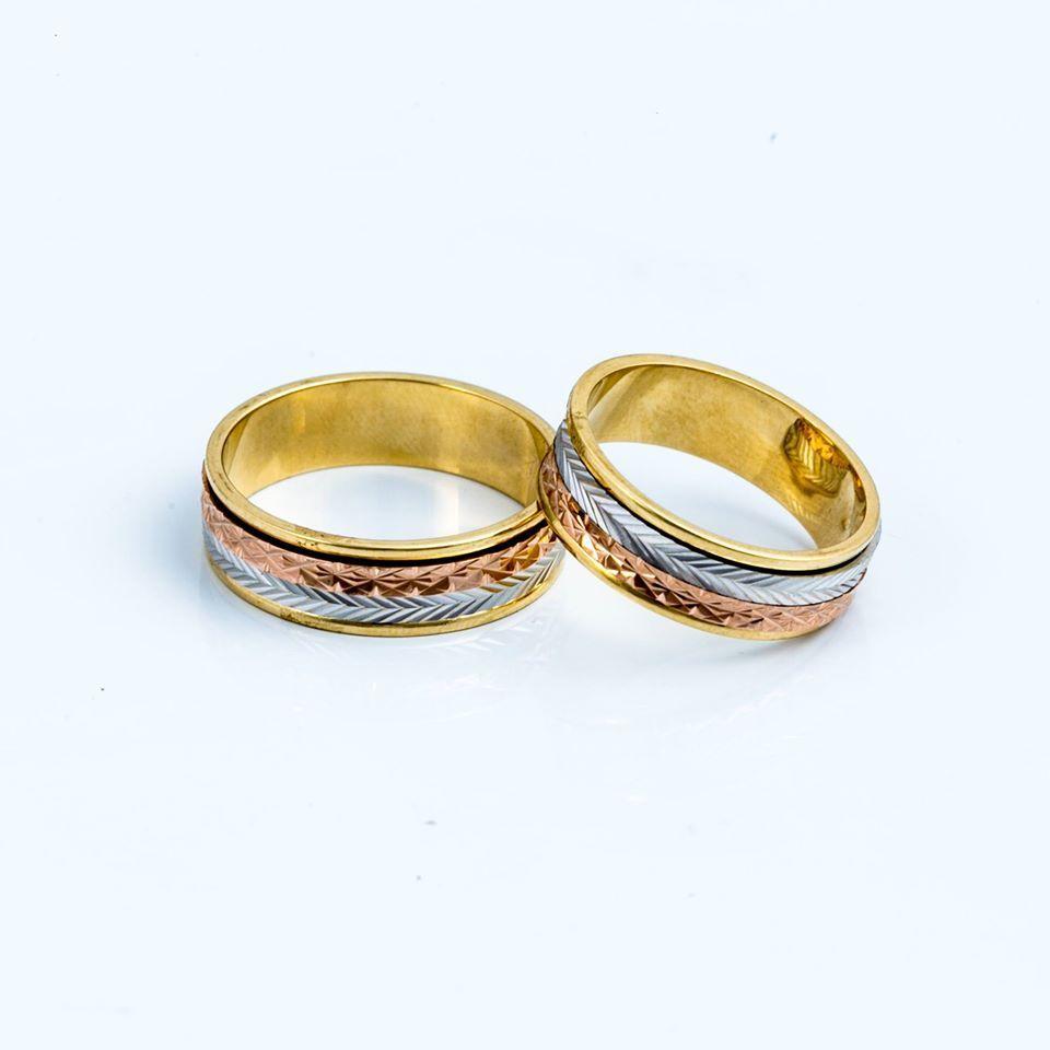 Alianca Saturno Tres Cores Ouro 18k Aliancas De Casamento Anel