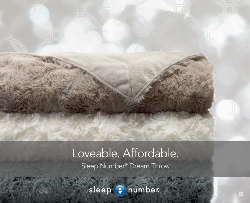 You'll love to wrap up in the cloud-like softness of our Dream Throw. Smooth and soft on one side, and fuzzy and plush on the other. This is a #gift that's sure to give a warm and fuzzy feeling. In 3 luxurious colors. Only from #SleepNumber.