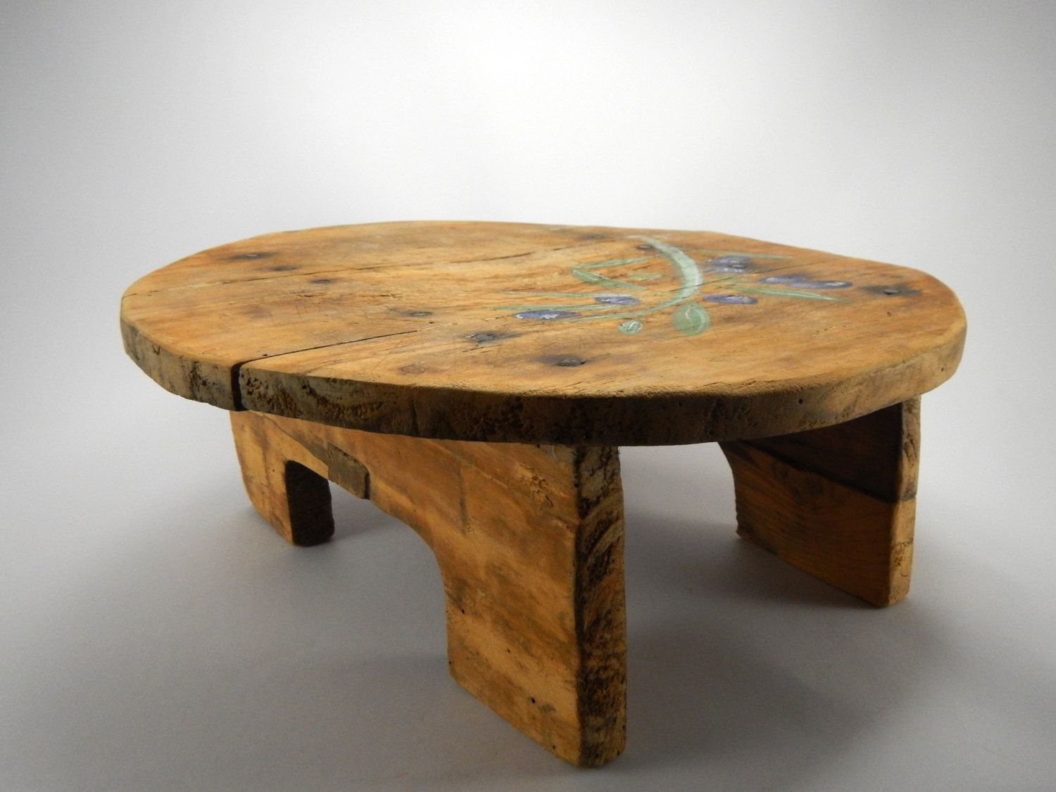 Antique Small Table Primitive Small Wooden Table Traditional Small Wooden Table Sofra Table