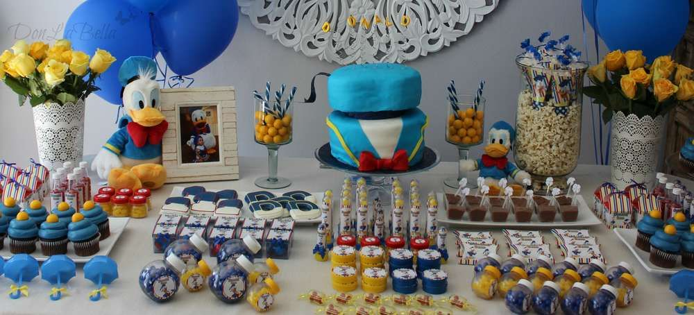 Donald Duck Birthday Party Ideas Photo 1 Of 2 Duck Birthday Donald Duck Party Duck Baby Shower Theme