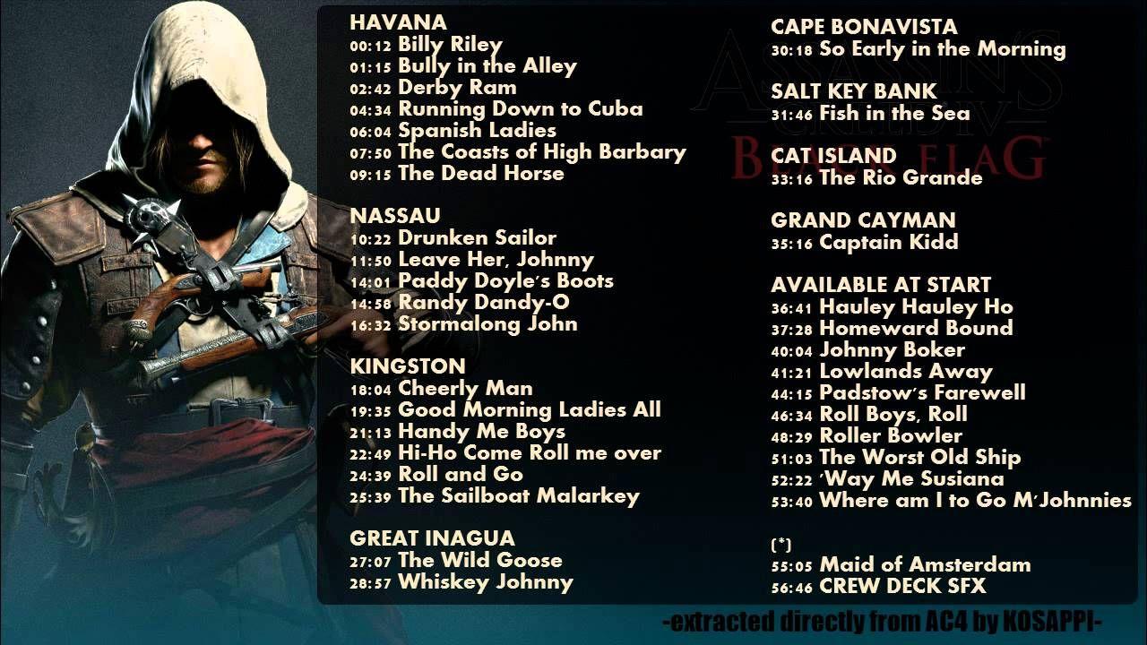 35 Sea Shanties 57 36 Full Track Ac4 Black Flag In Game Soundtrack Sea Shanties Assassins Creed Black Flag Black Flag