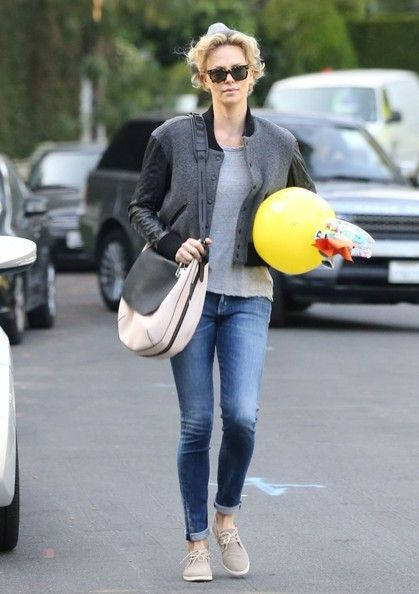 Charlize Theron leaving a birthday party in Beverly Hills, California on March 22, 2014.