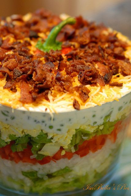 Amazing 9 Layer Garden Salad Explored 2x Layered Salad Recipes Food Layered Salad