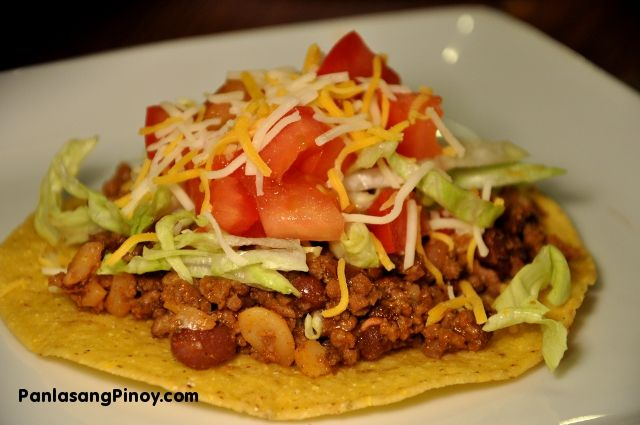 Ground Beef Tostada Recipes Taco Recipes Ground Beef Ground Meat Recipes
