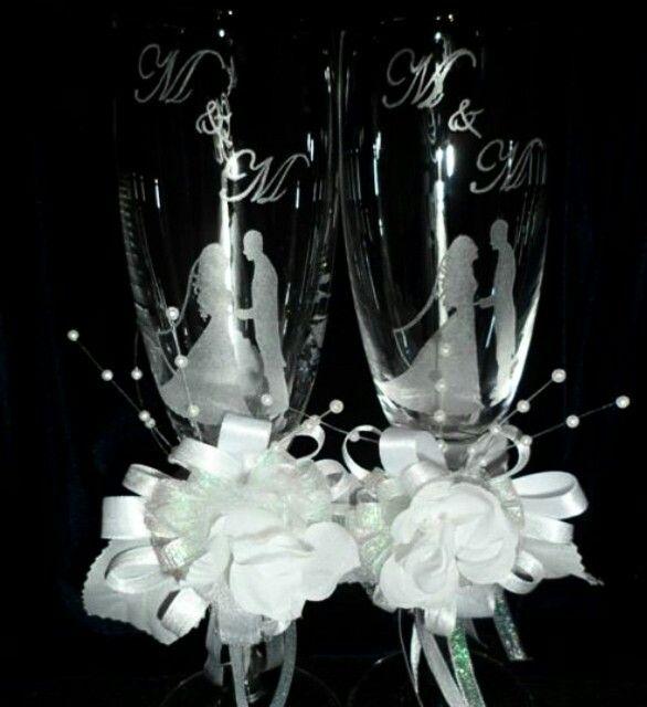 Copas grabadas a mano bodas