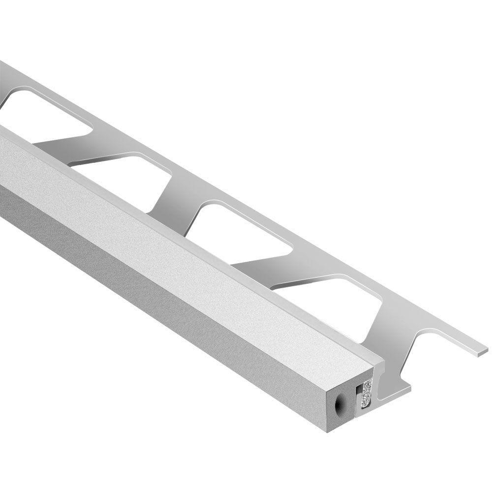 Schluter Dilex-KSA Aluminum with Classic Grey Insert 7/16 in. x 8 ft ...