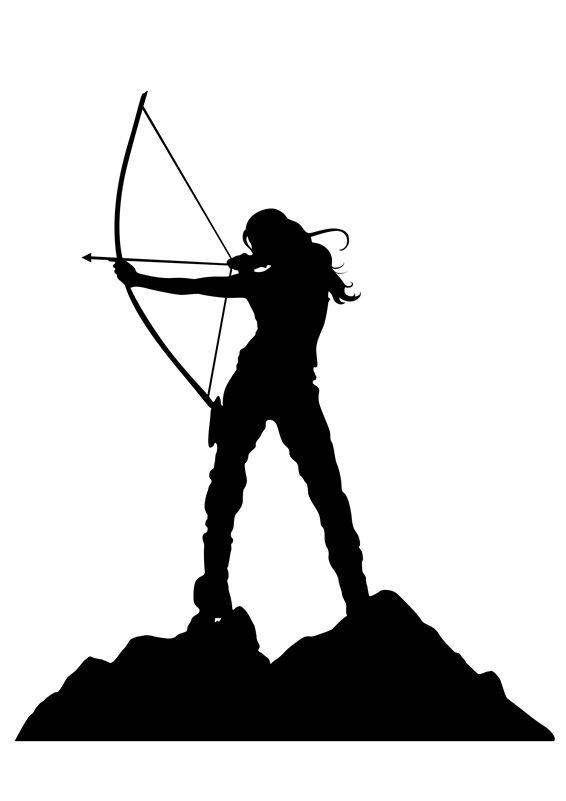 48363ca31 lady archery silhouette - Google Search | Banners | Archery, Arrow ...