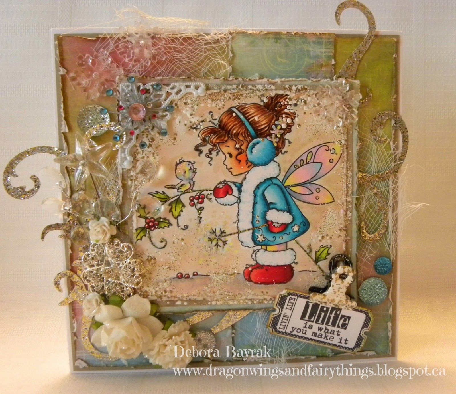 Life Is What You Make ItKit and Clowder Whimsy stamps