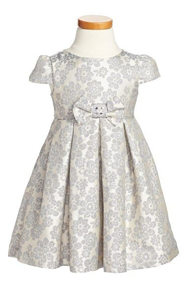 Luli Amp Me Floral Jacquard Dress Toddler Girls Little
