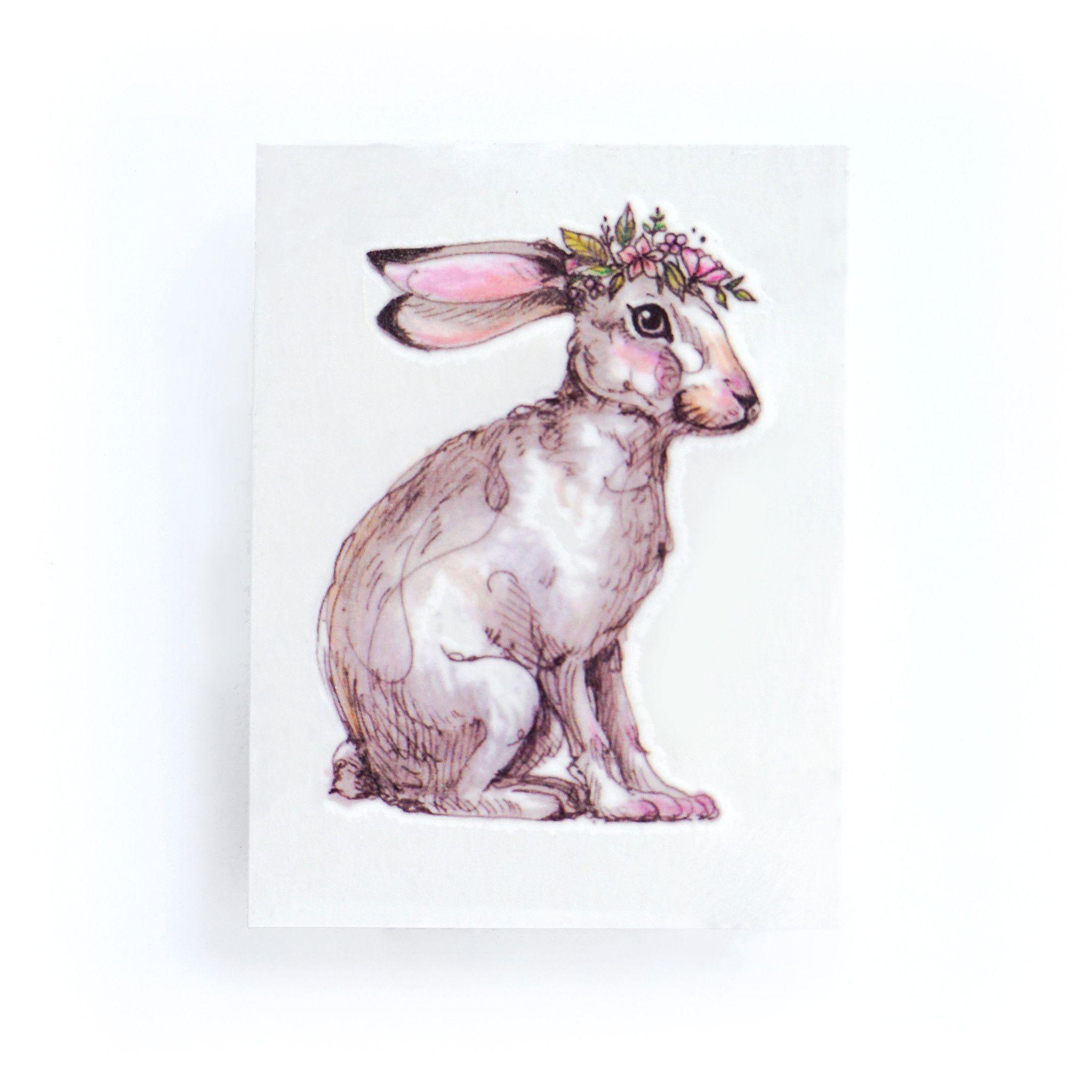 Pastel Floral Bunny