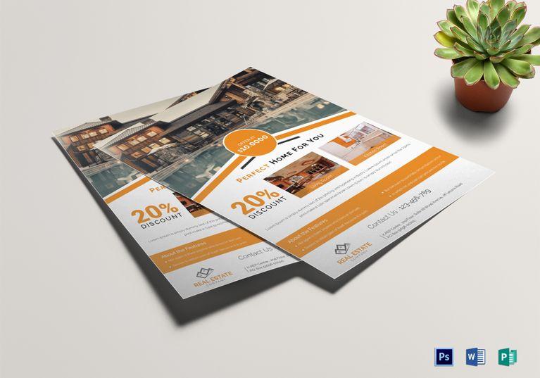 Real Estate Flyer Template Design Flyer Templates Pinterest