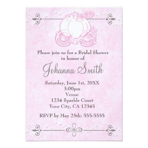 Cinderella Carriage Pink Bridal Shower