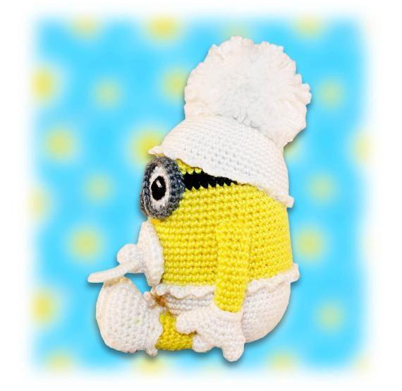 Baby Minion Crochet Pattern, Crochet Minion, Amigurumi Minion