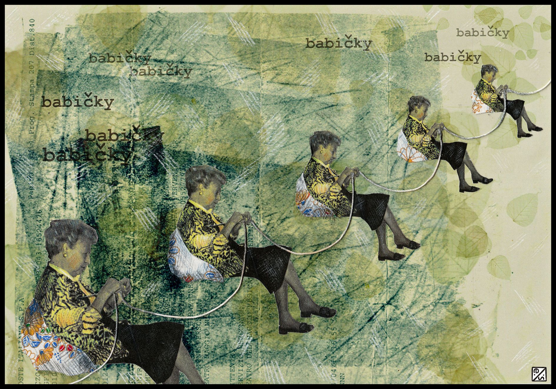 """Eleonora Spezi """"Nonne"""", collage, matita, computer graphic, 2011"""