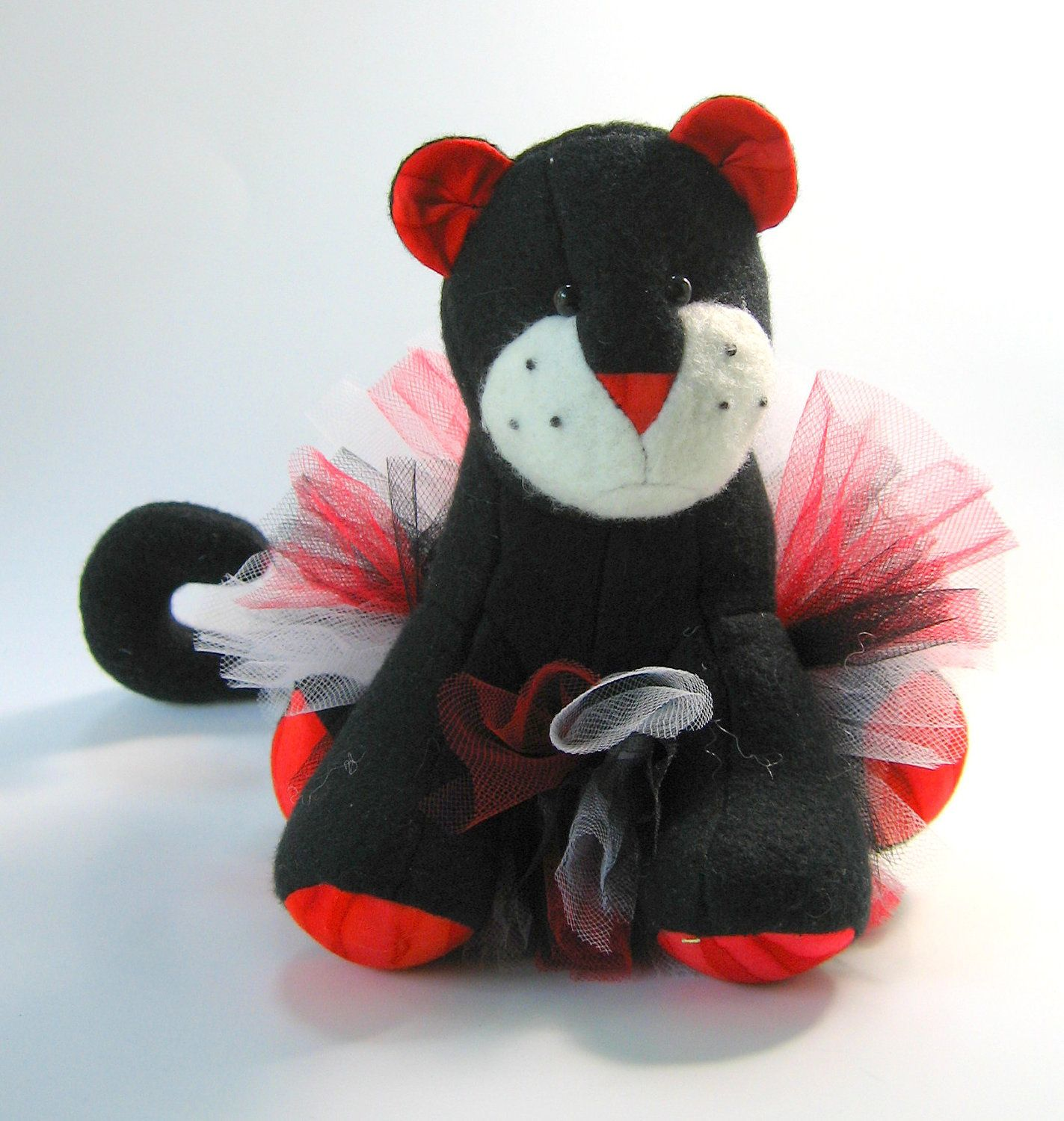 Rosie the Dancing Panther, plush, small stuffed animal, soft, red ...