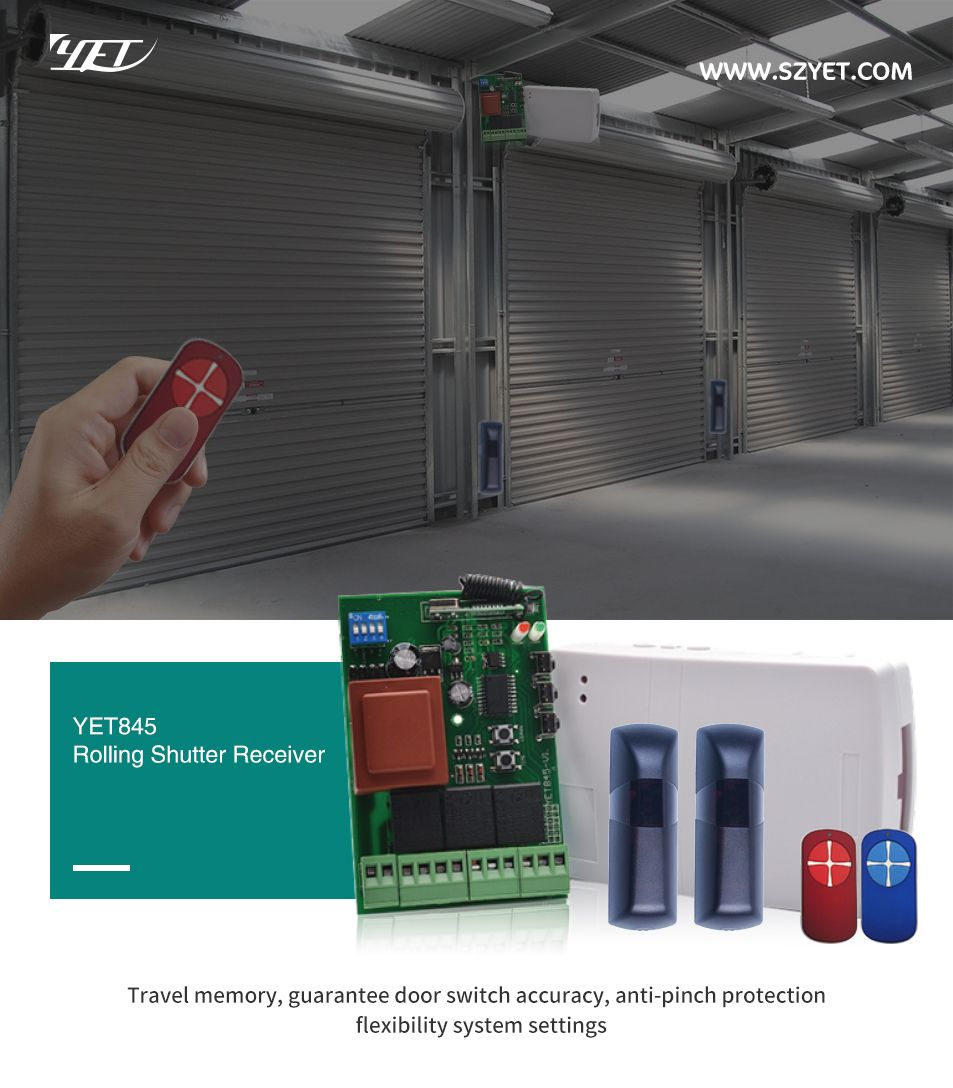 Rolling Shutter Wireless Controller Yet845 Automatic Door Controller Wireless Controller Wireless Universal Remote Control