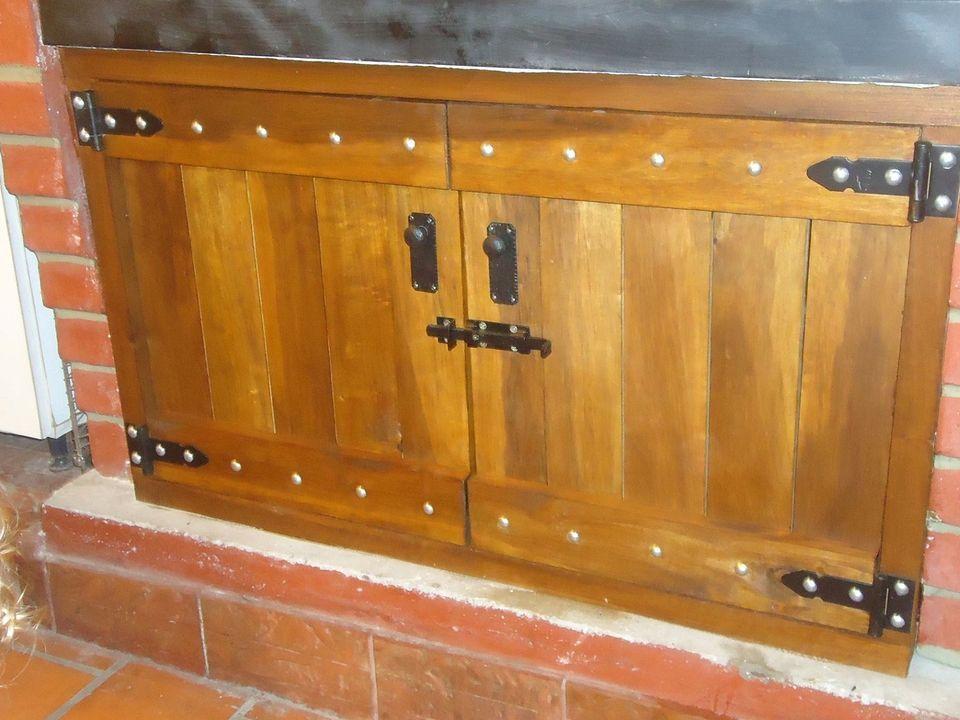Puertas para la parrilla | Parrilla, Puertas de madera y Muebles madera