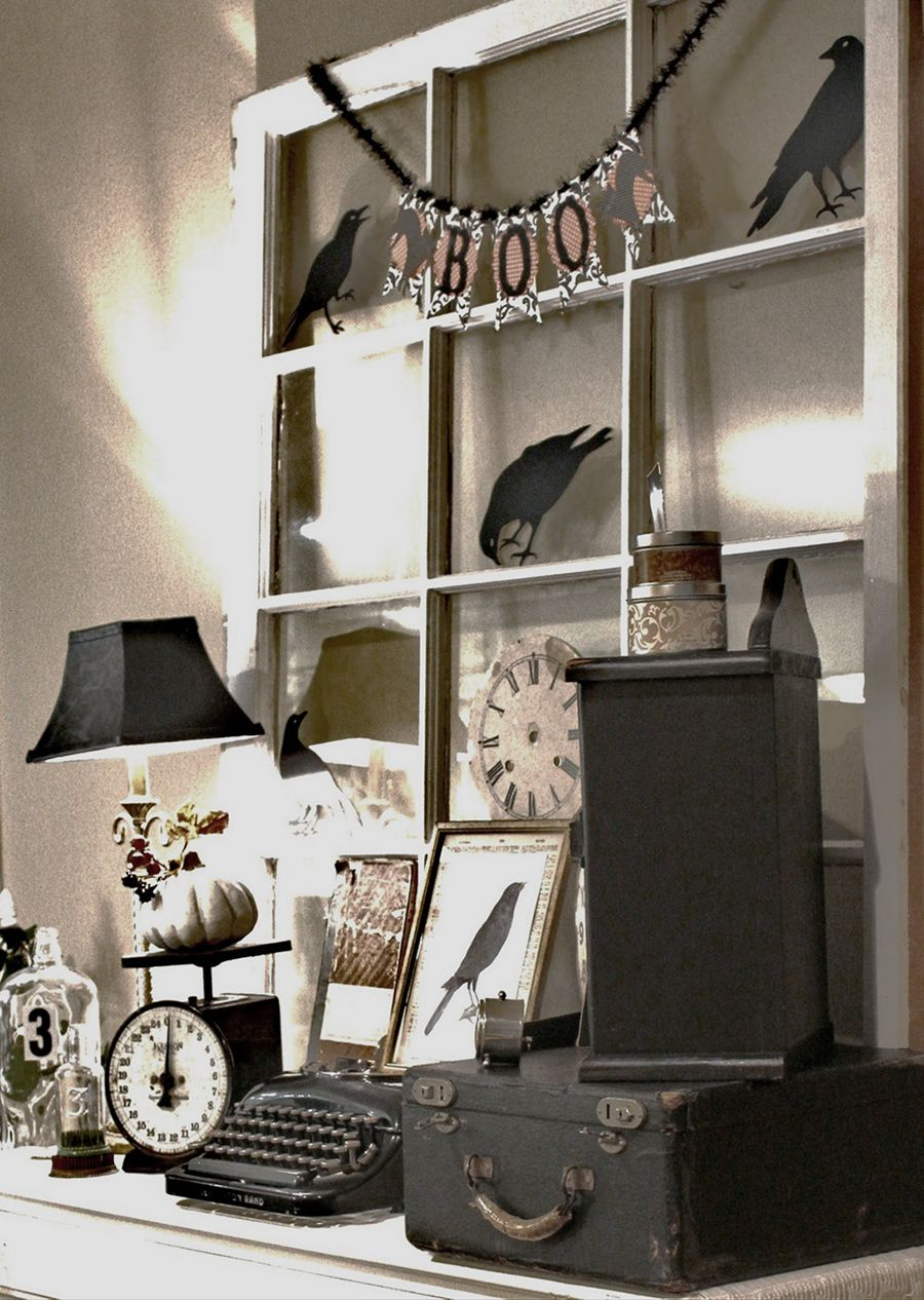 This Week on the Sideboard Vintage halloween, Black white - black and white halloween decorations