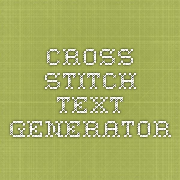 cross stitch text generator … | cross stitch | Cross stitch