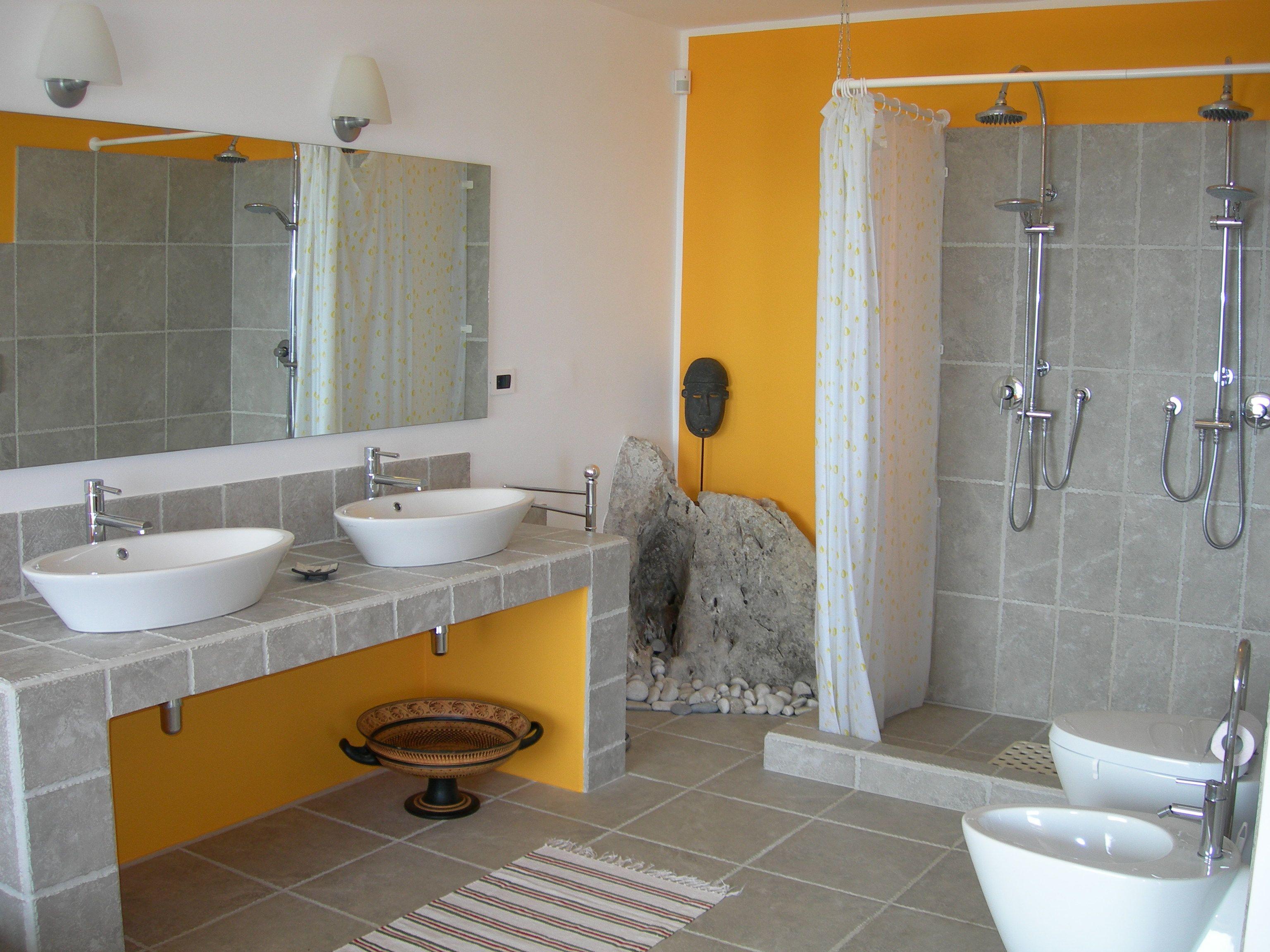 bagno giallo e grigio   4home   Pinterest