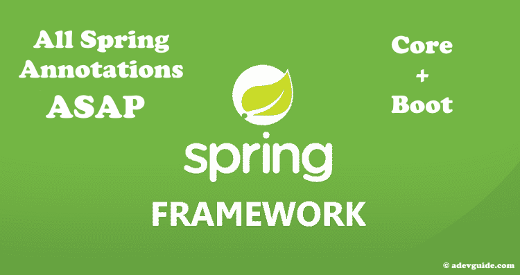 All Spring Annotations Explained Cheat Sheet Nowadays There Are
