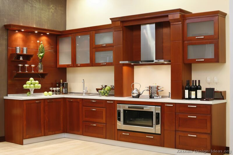 Modern Kitchen Doors kitchen idea of the day: naturally warm and inviting: modern