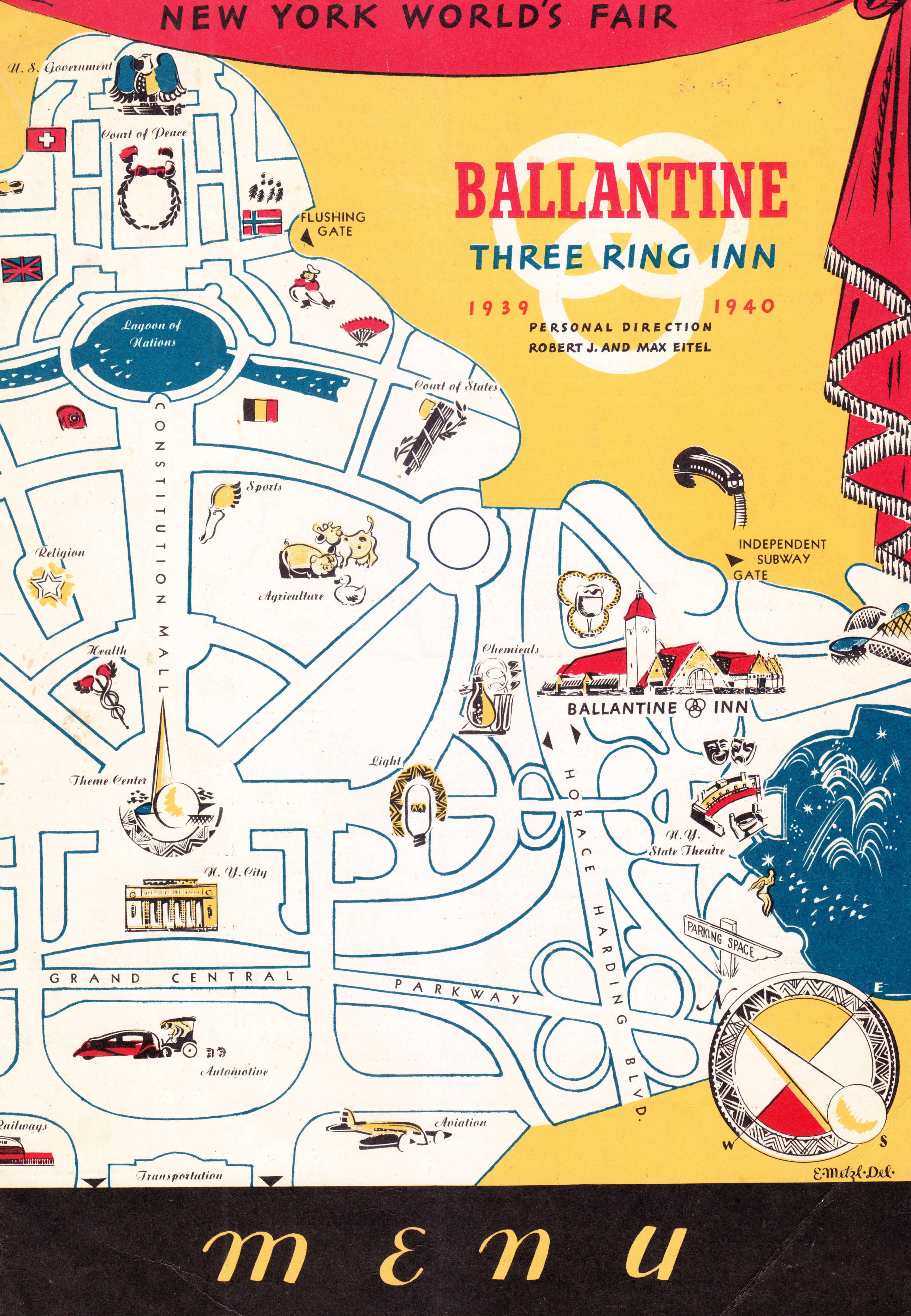1939 New York World's Fair, Ballantine Inn Menu