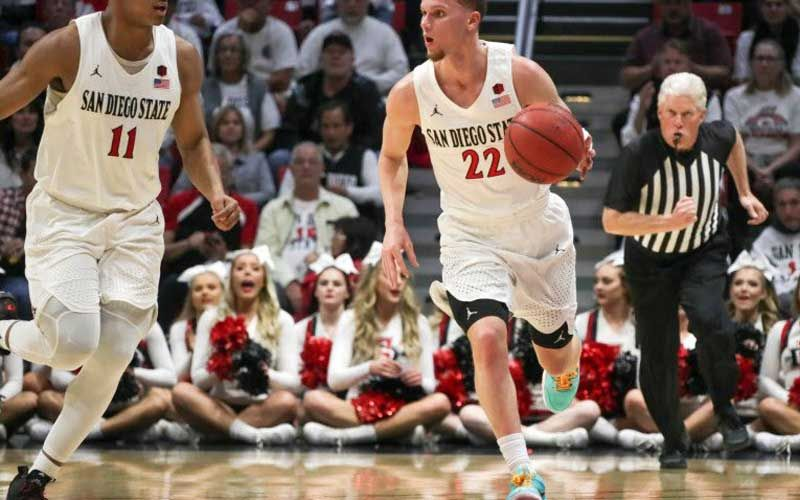San Diego State 80 Utah State 68 In 2020 San Diego Undefeated