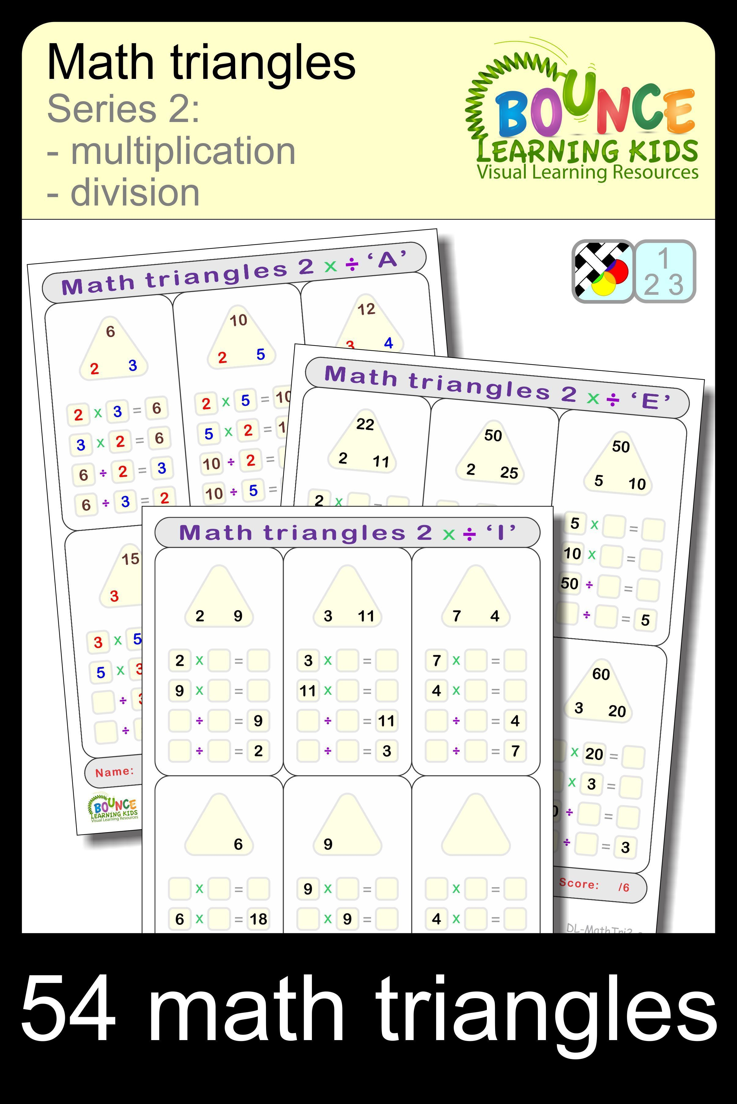 Math Triangles 2 9 Distance Learning Numeracy Sheets