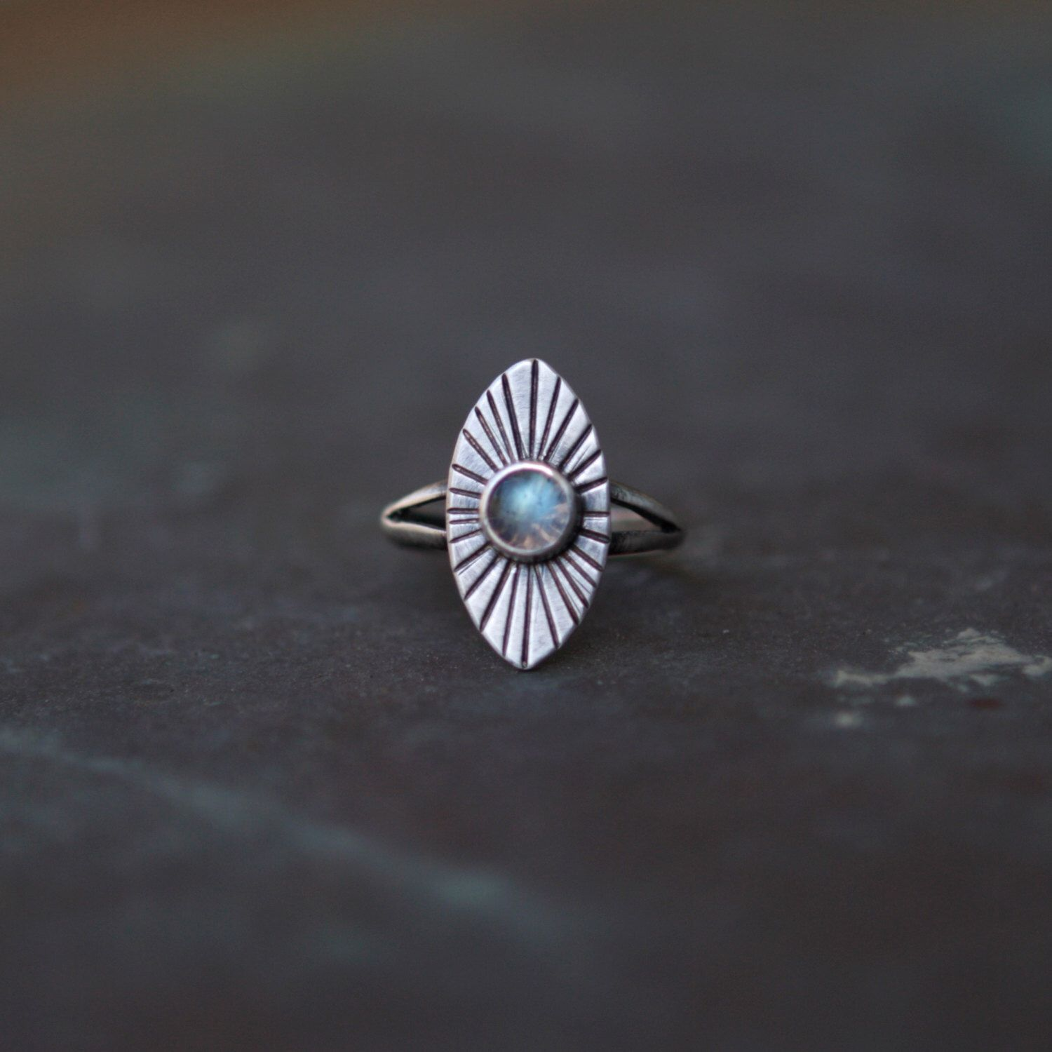 Labradorite Radial Ring - Radiant Ring - Sterling Silver Labradorite Ring - Blue Labradorite - Marquise Ring - Size 4.75 by JayCuneo on Etsy https://www.etsy.com/listing/290178131/labradorite-radial-ring-radiant-ring