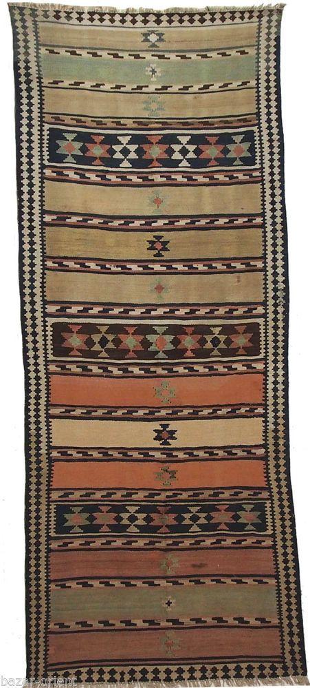 292x120 cm antik orient Teppich kaukasische Nomaden Sanne kelim kilim Nr-802