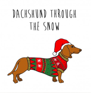 dachshund through the snow hat