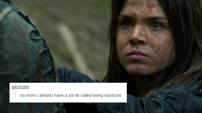 The 100 + Tumblr Text Posts by skeeterolson    Octavia Blake being badass    Marie Avgeropoulos    The 100 season 2 episode 2 - Inclement weather