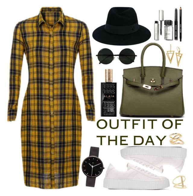 """""""Outfit Of The Day"""" by oshint ❤ liked on Polyvore featuring I Love Ugly, Alaïa, Bobbi Brown Cosmetics, Maison Michel, Jennifer Fisher and Sydney Evan"""