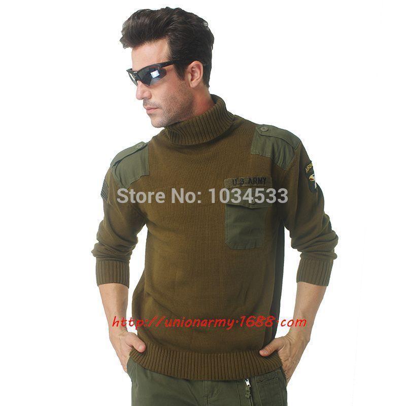 101 Airborne Cotton Cashmere Sweater US Air Force Pilot Hawk Style ...